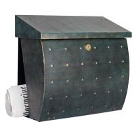 Krosix Briefkasten, grün / Gold