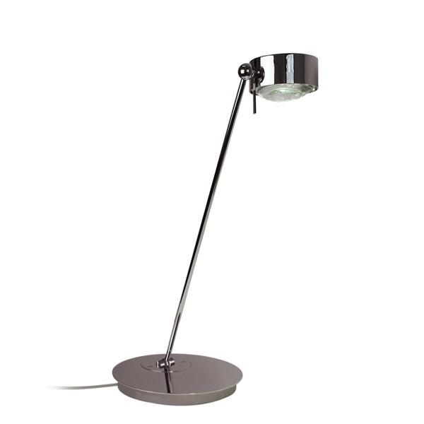 Top Light Puk Maxx Table LED Tischleuchte, 60 cm, Chrom, Glas satiniert / Linse klar