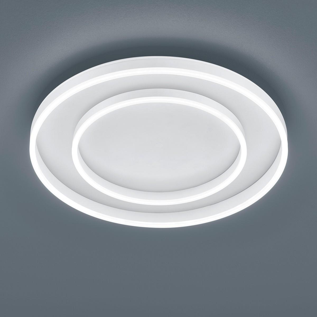 Helestra Sona Deckenleuchte, Ø: 59,5 cm, weiß matt