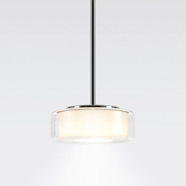 Serien.lighting Curling Suspension Tube LED Medium, Schirm: klar, Reflektor: zylindrisch opal