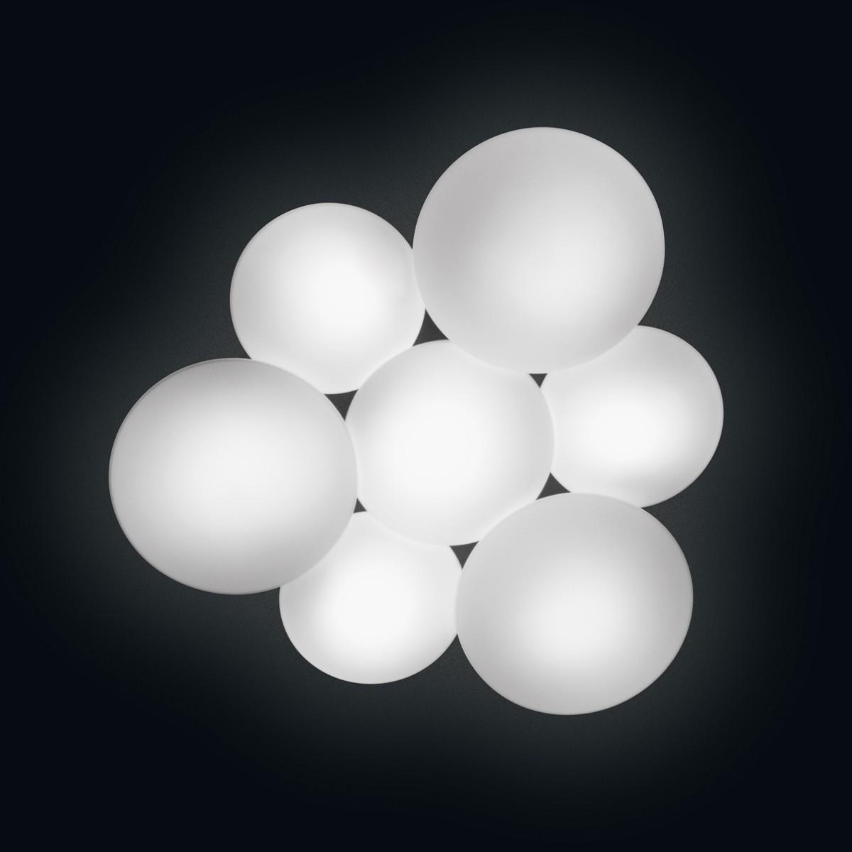 Vibia Puck LED Deckenleuchte, 7-flg., weiß