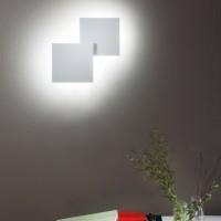 Puzzle Double Square Wand - / Deckenleuchte, weiß matt, 2700° K