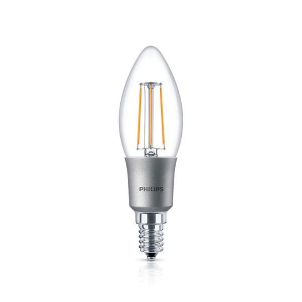 Philips LED Classic Kerze E14 5 W, warmweiß, dimmbar, klar