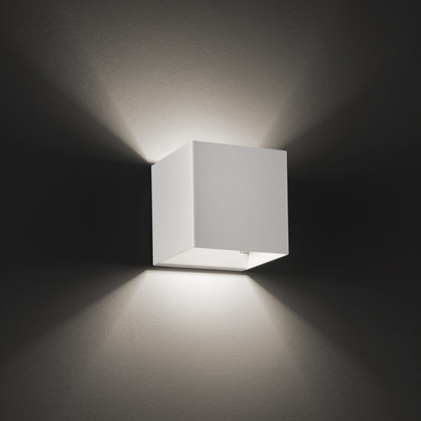Laser Cube 10 x 10 LED Wandleuchte, weiß matt