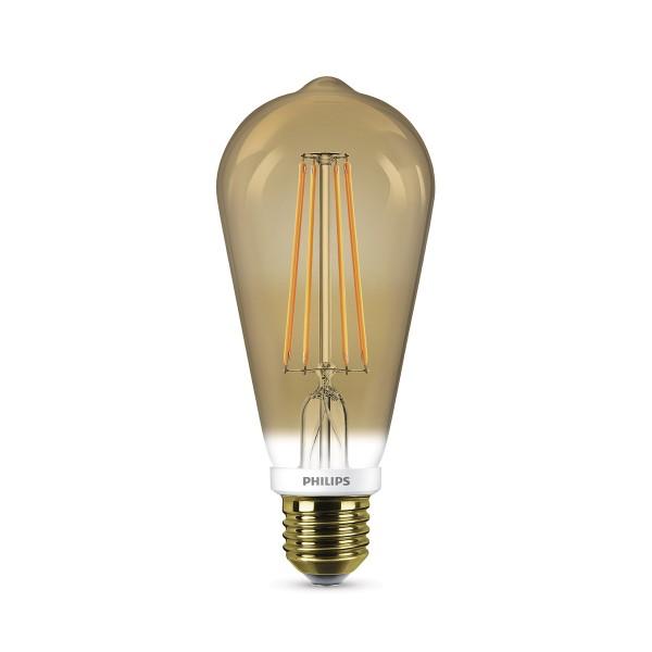 Philips LED Classic Lampe E27 7 W, Flame, dimmbar, klar