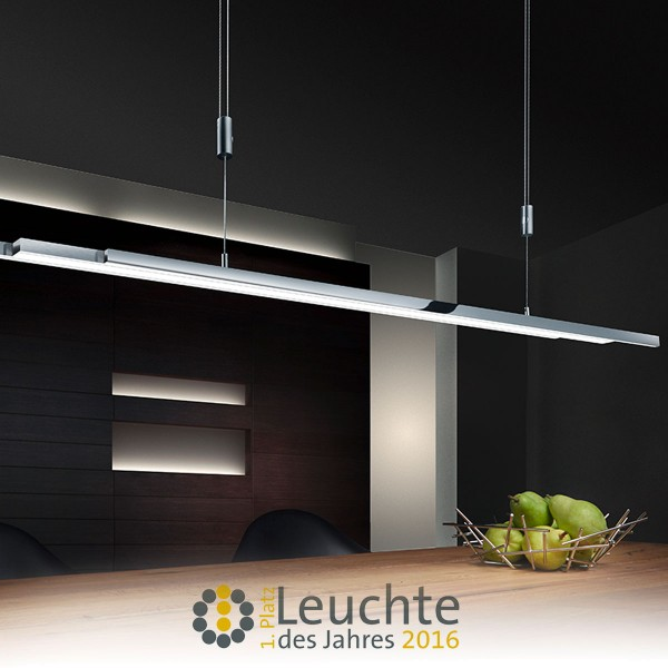 Bankamp L-lightLINE Pendelleuchte, Nickel matt / Chrom