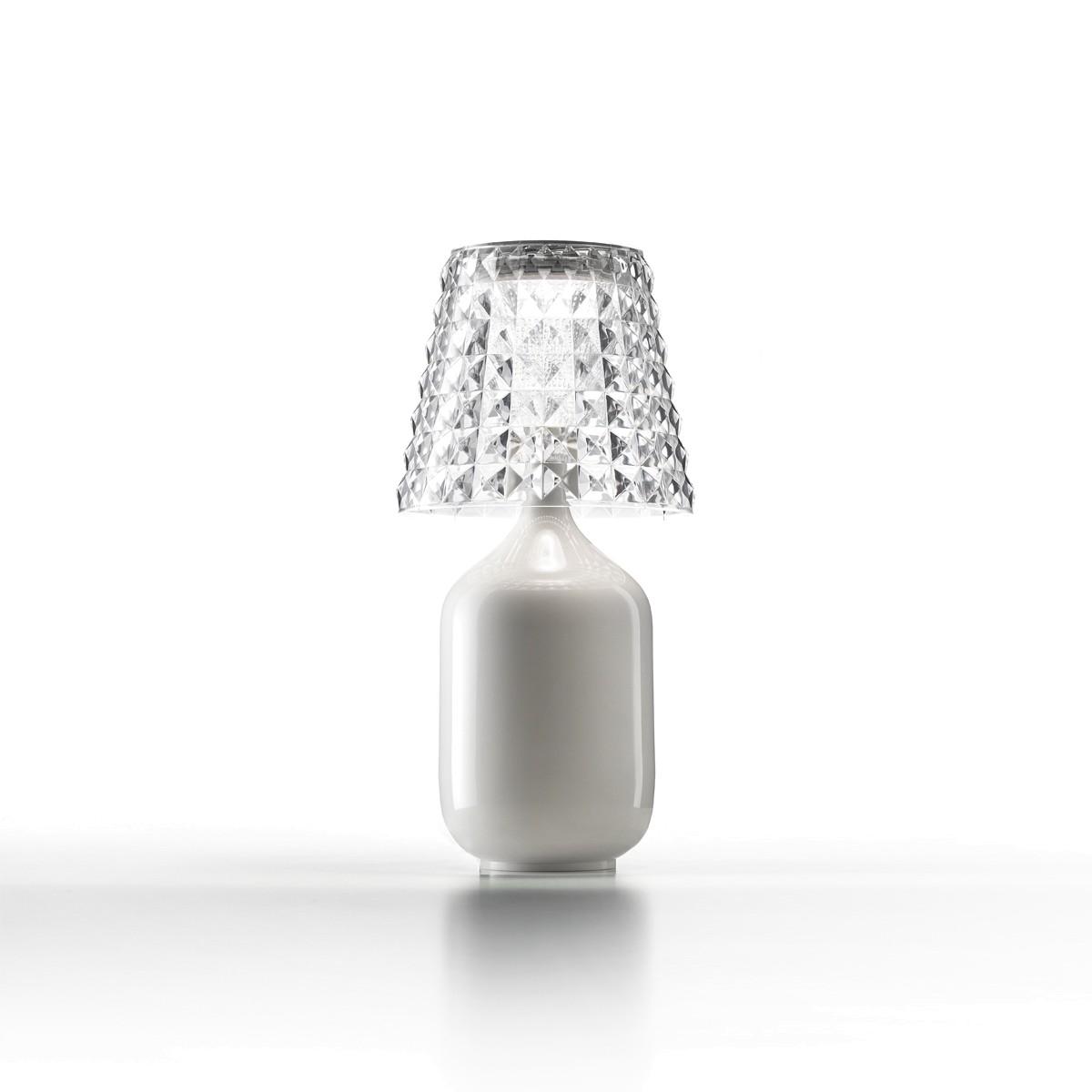 Studio Italia Design Valentina Tischleuchte, weiß glänzend