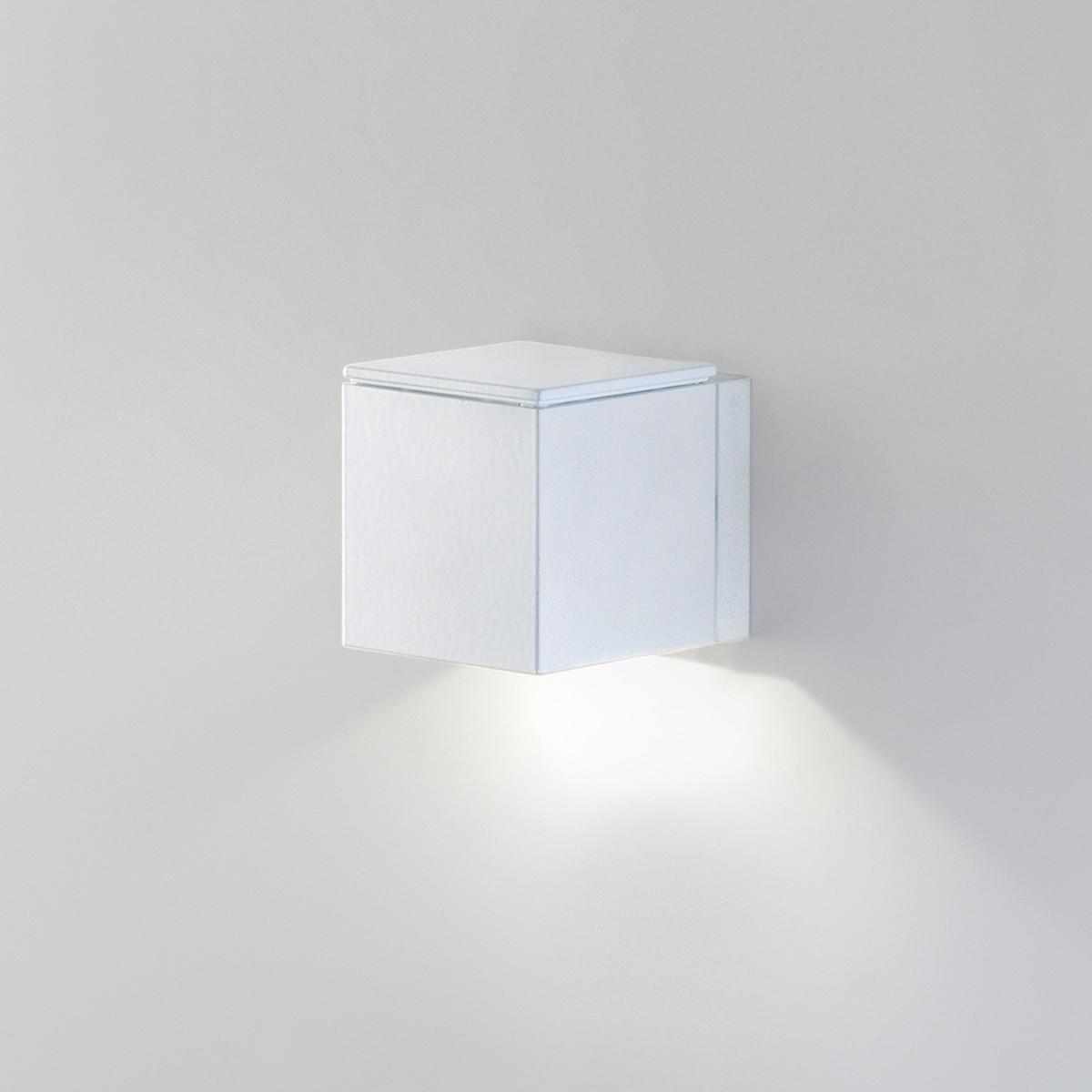 Milan Mini Dau LED Wandleuchte, Chrom / mattschwarz
