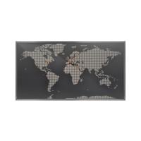 Sompex Map LED Wandleuchte / Weltkarte, Alu Dibont / bunt