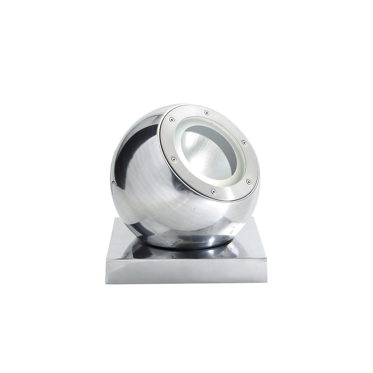 Fabbian Beluga Alu Tischleuchte, Aluminium poliert, Fassung: E27