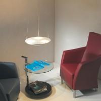 Escale Avanti LED Pendelleuchte, Glas satiniert, Anwendungsbild