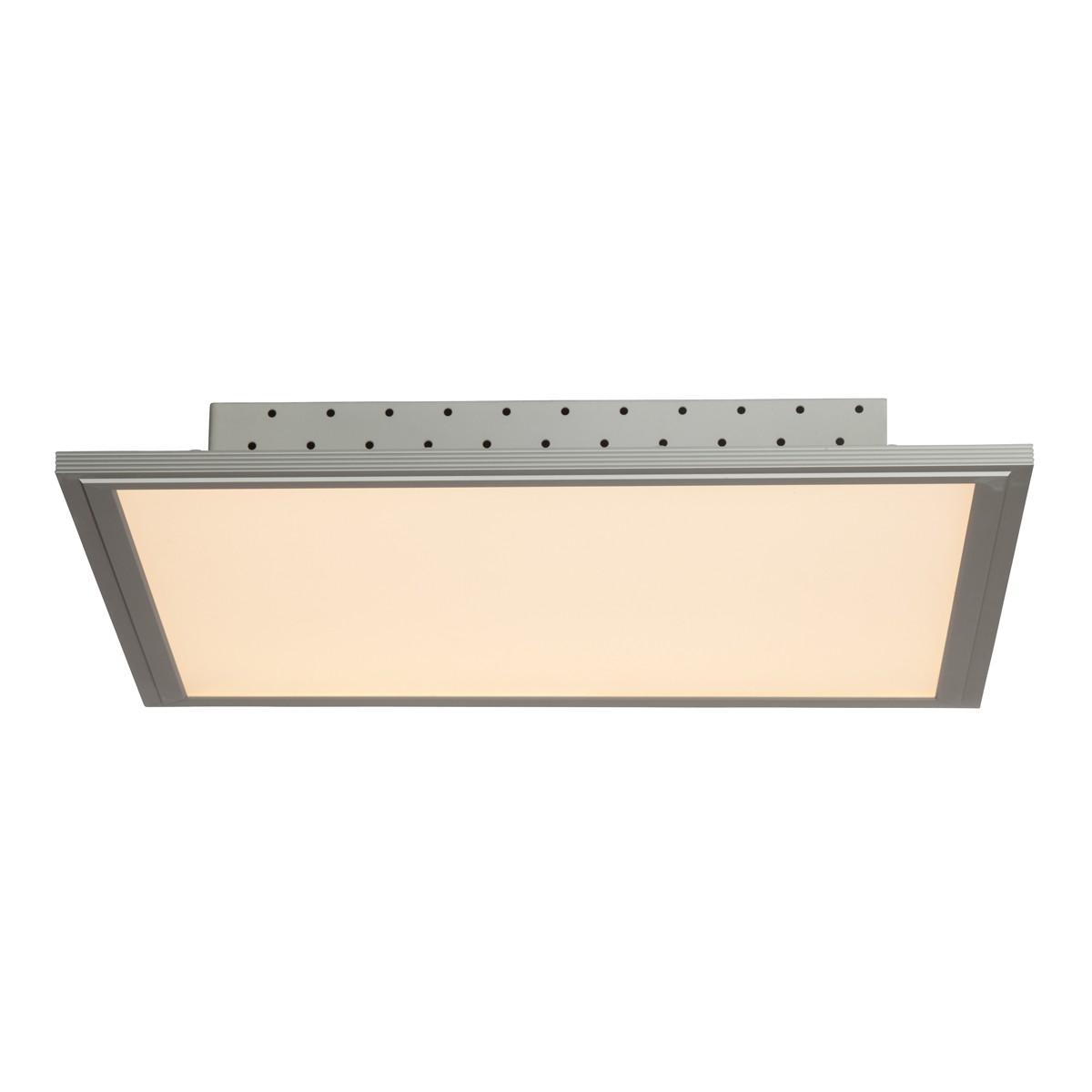 Brilliant Flat Deckenleuchte, quadratisch, 42 x 42 cm, Aluminium