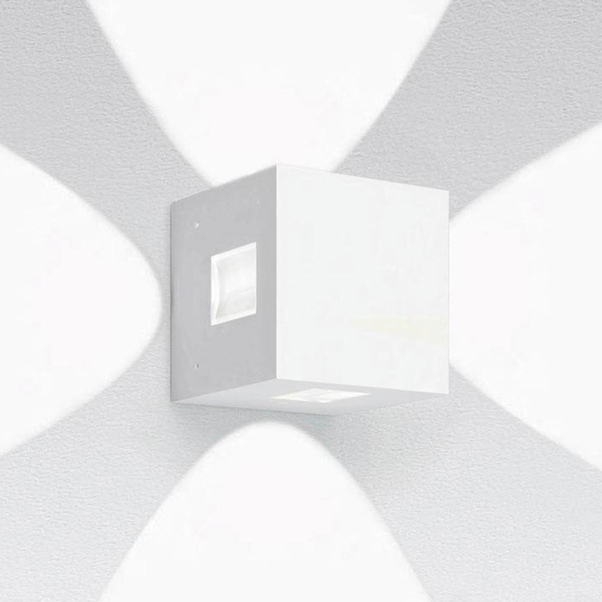 Artemide Outdoor Effetto 14S LED 4L Wandleuchte, 4 x 50°, 3000 K, hellgrau