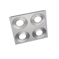 Grossmann Coax LED Deckenleuchte, 4-flg., quadratisch, weiß-aluminium