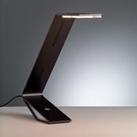 Tecnolumen Flad LED Tischleuchte, Aluminium schwarz lackiert