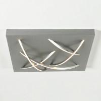 Curved Deckenleuchte, quadratisch, Aluminium geschliffen
