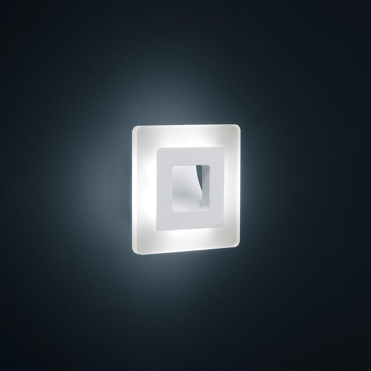 Helestra Jenna Wand-/Deckenleuchte, weiß matt, quadratisch