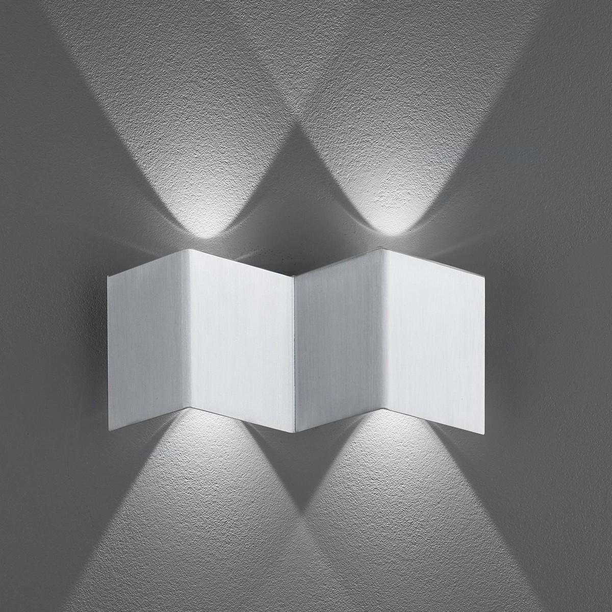 B-Leuchten Prince 40236 Wandleuchte, Aluminium
