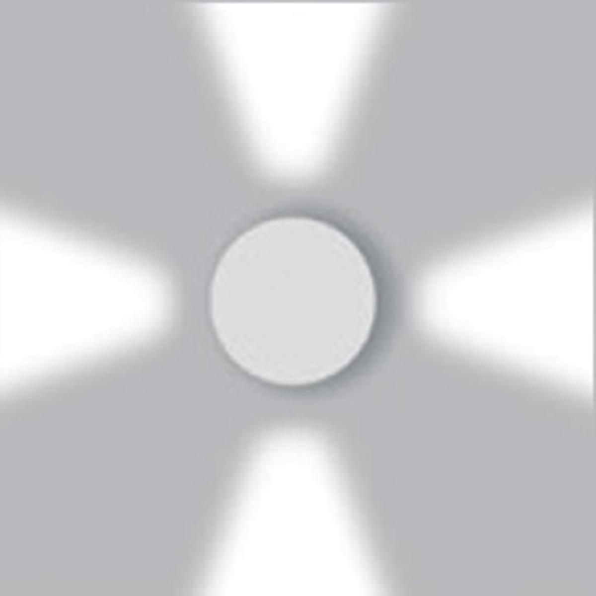 Artemide Outdoor Effetto 16R Wandleuchte 4L, 4 x 40°, hellgrau, 3000° K