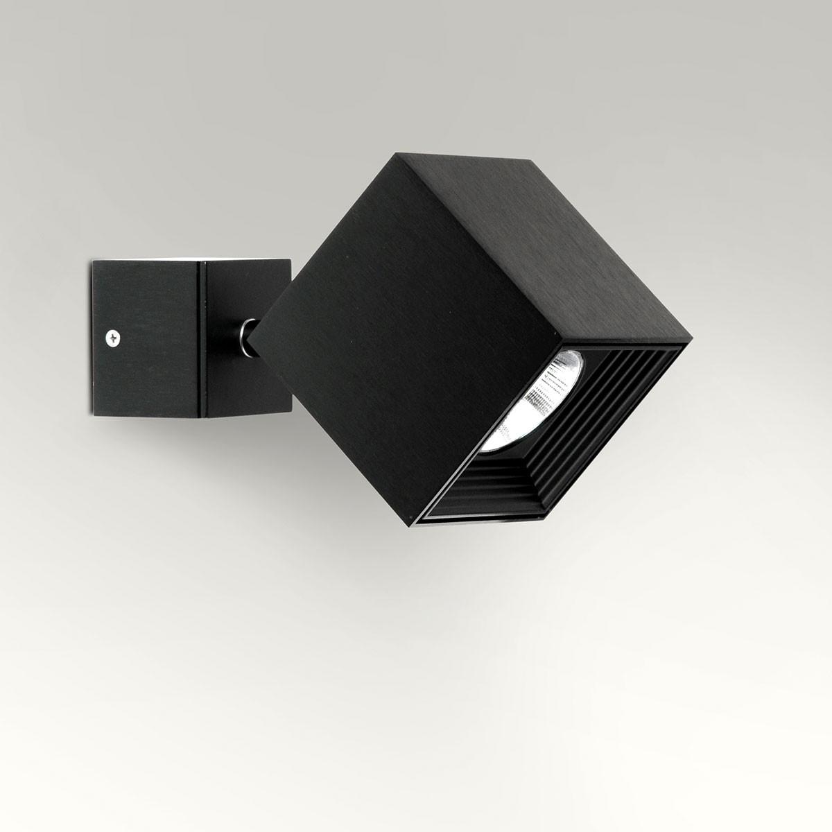 Milan Dau Spot LED Wandstrahler, schwarz satiniert gebürstet