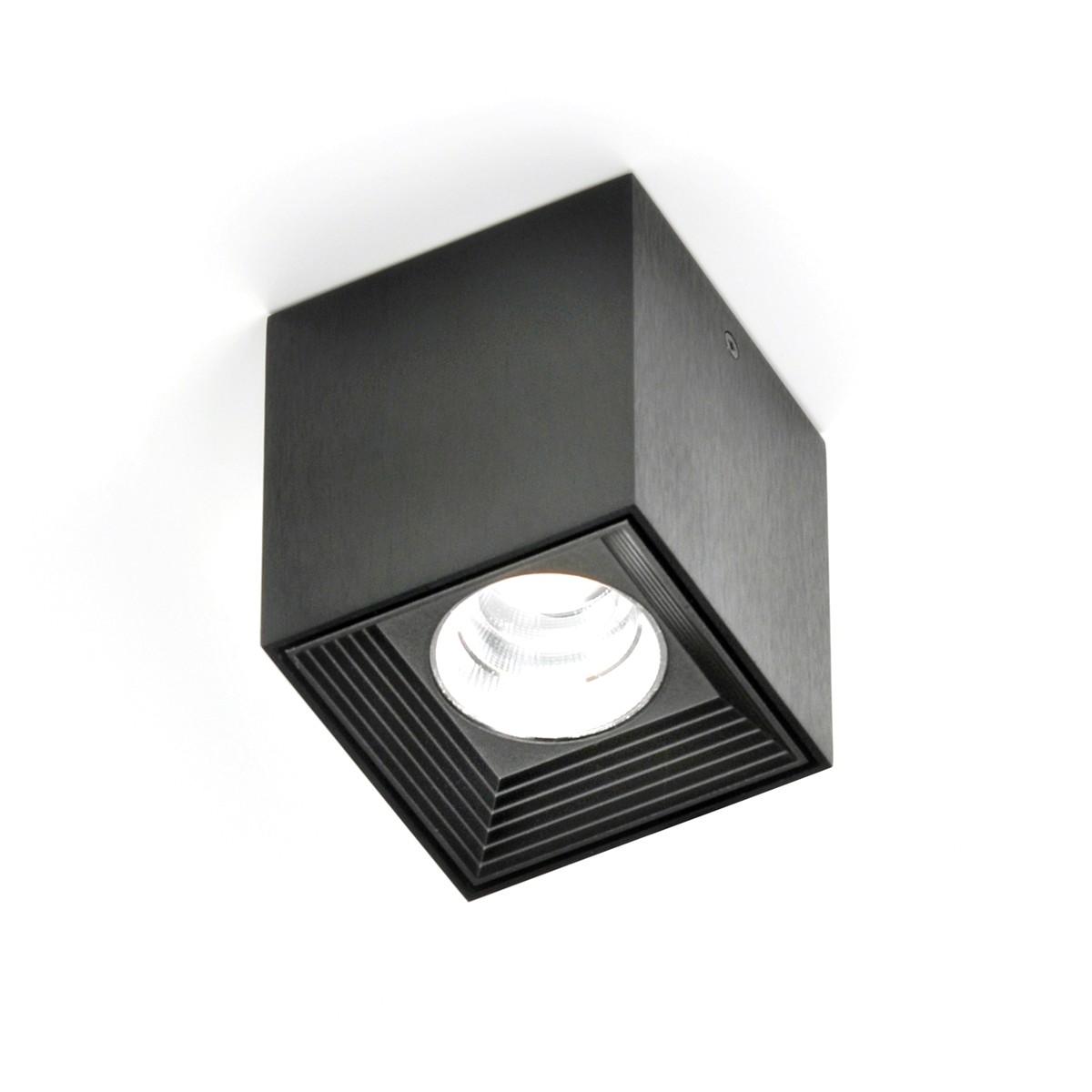 Milan Dau Spot LED Deckenstrahler, schwarz satiniert gebürstet