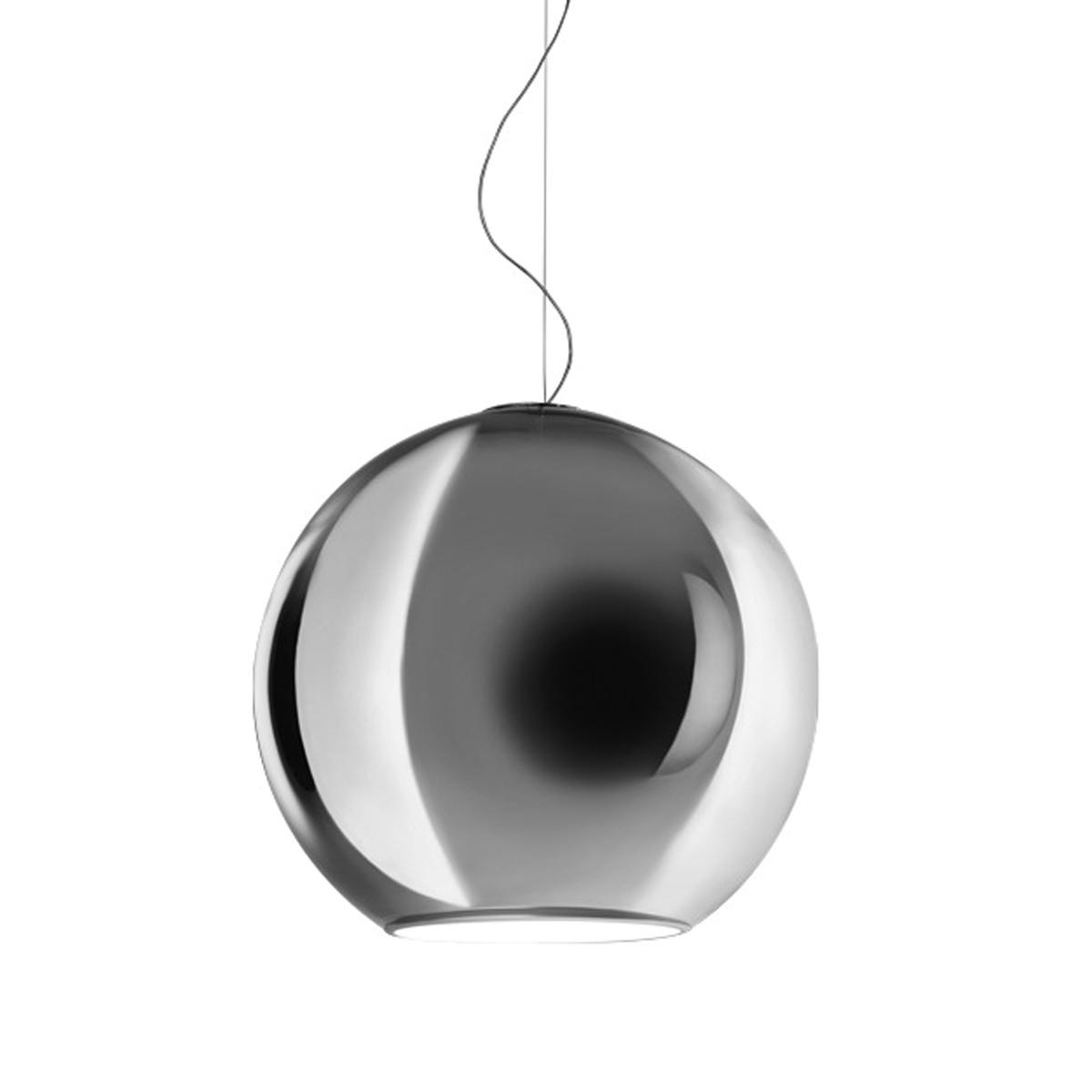 Fontana Arte Globo Di Luce Pendelleuchte, Ø: 20 cm, Silber metallisiert