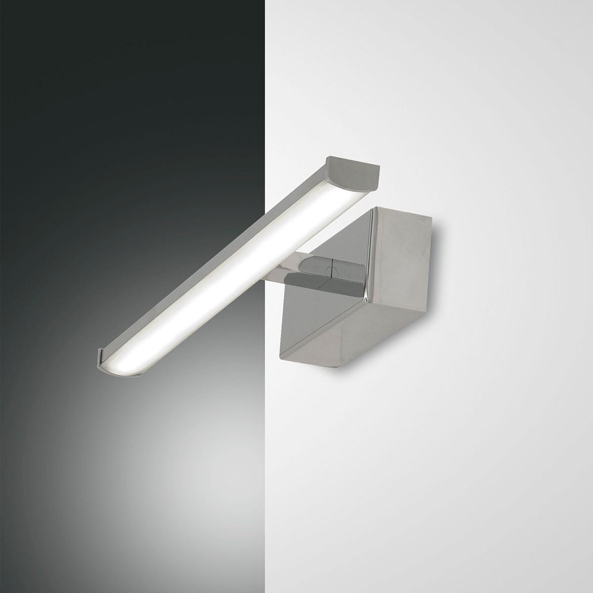 Fabas Luce Nala LED Wandleuchte, Länge: 30 cm, Chrom