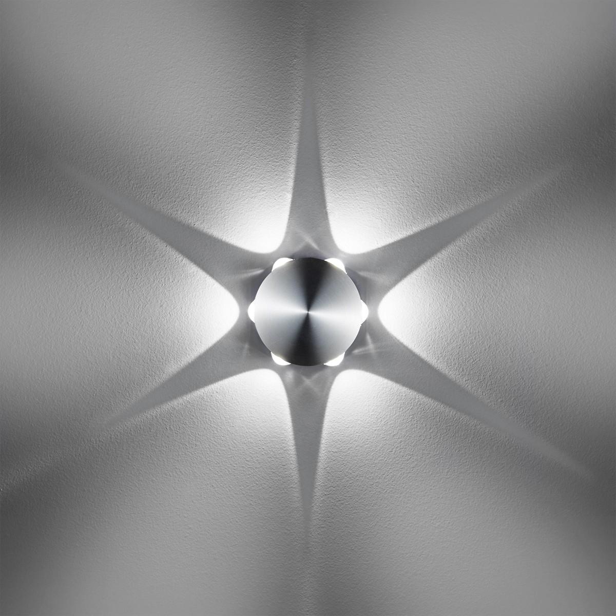 B-Leuchten Stream 40116 LED Wandleuchte, Aluminium