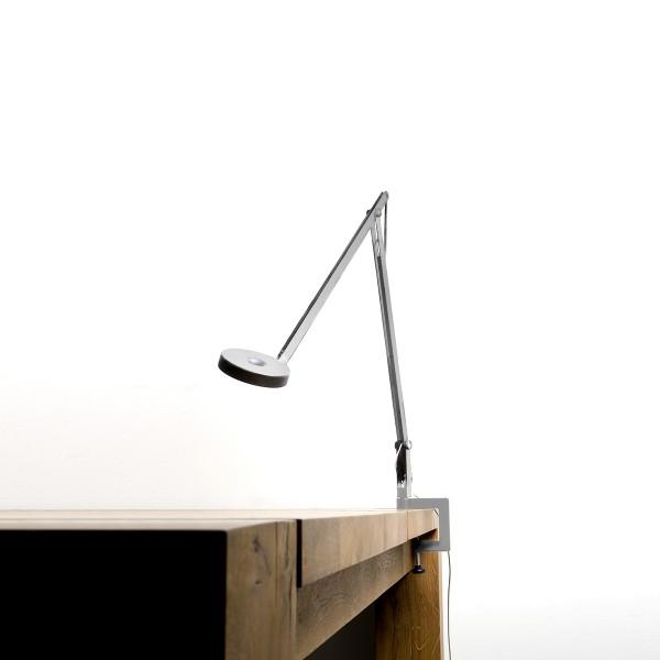 String T2 LED Tischklemmleuchte, Leuchte: Silber, Verstellband: schwarz