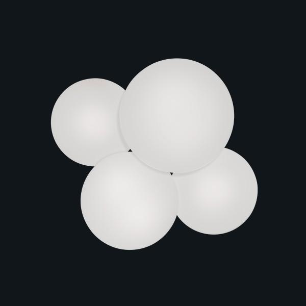 Vibia Puck LED Deckenleuchte, 4-flg., weiß