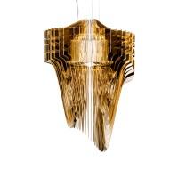 Slamp Aria Gold LED Suspension, small, Höhe: 75 cm, golden