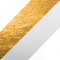 Lederam C150 Deckenleuchte, weiß/Gold, Stange: satiniert, Scheibe: weiß