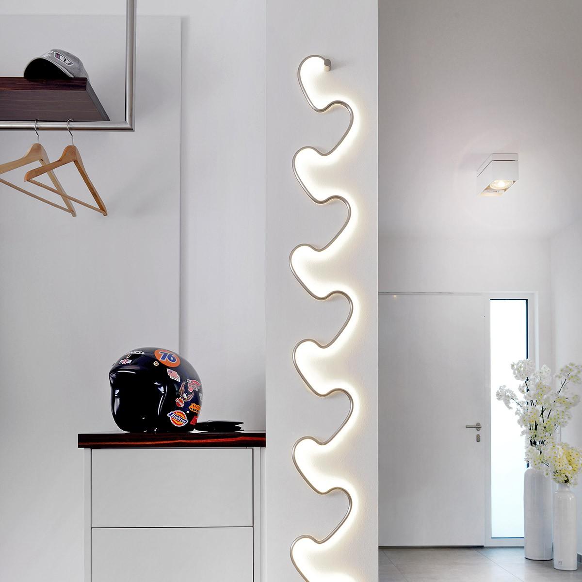 Sompex Step LED Wandleuchte, Aluminium