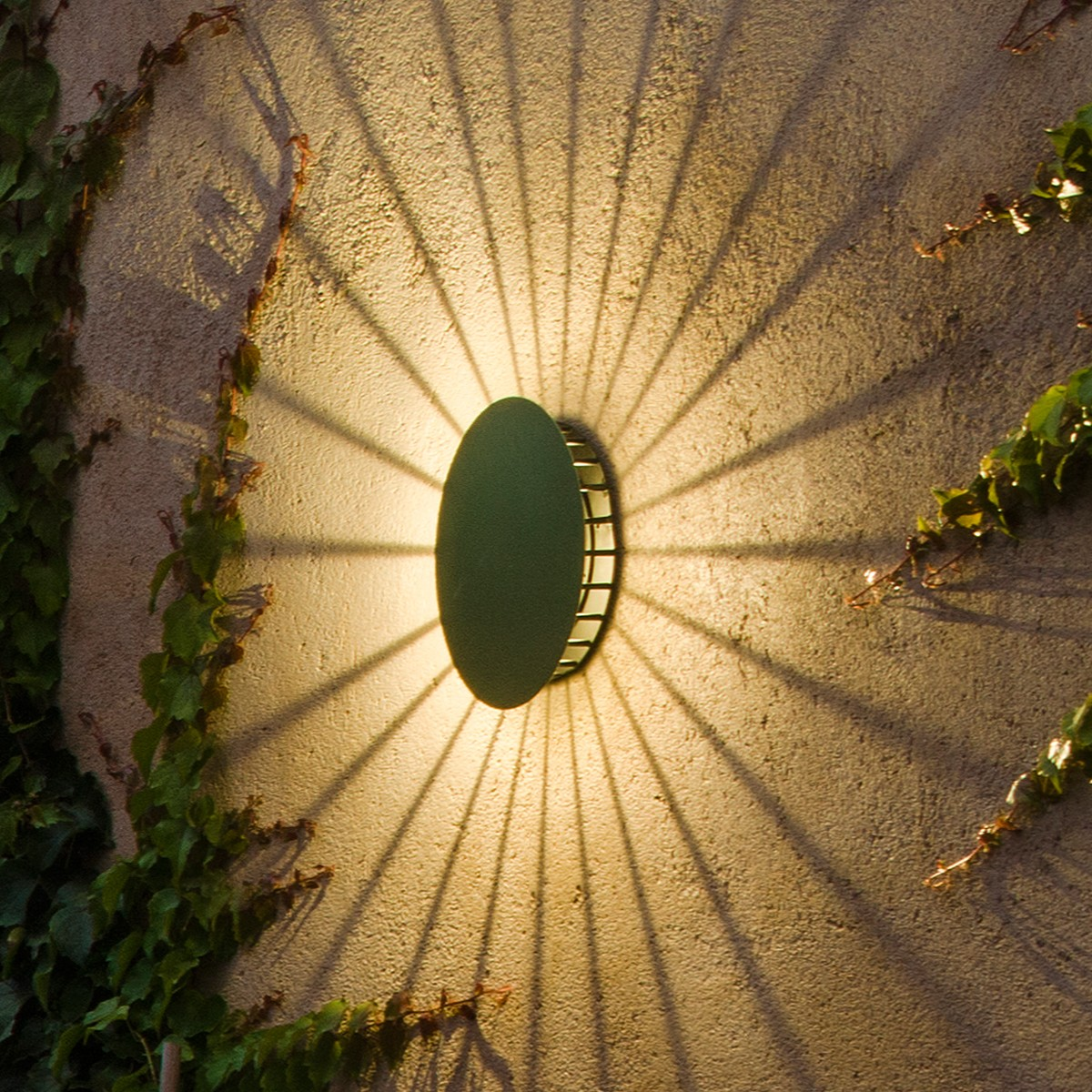Vibia Meridiano LED Wandleuchte, grün matt