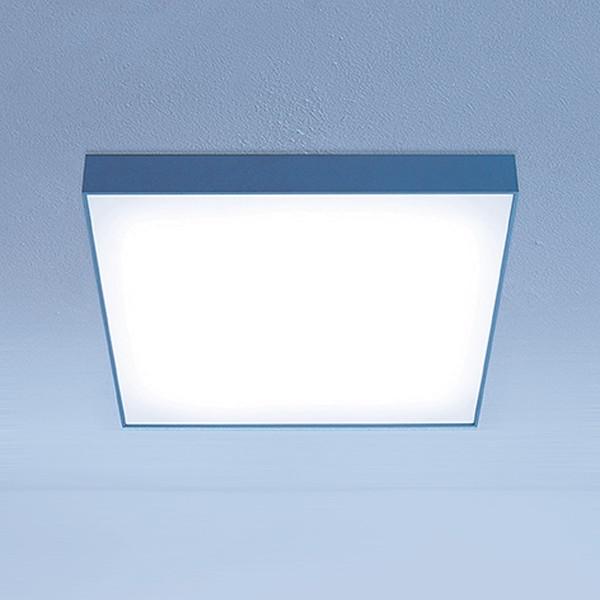 Lightnet Cubic-A2 Wand- / Deckenleuchte, Opal, Aluminium natureloxiert