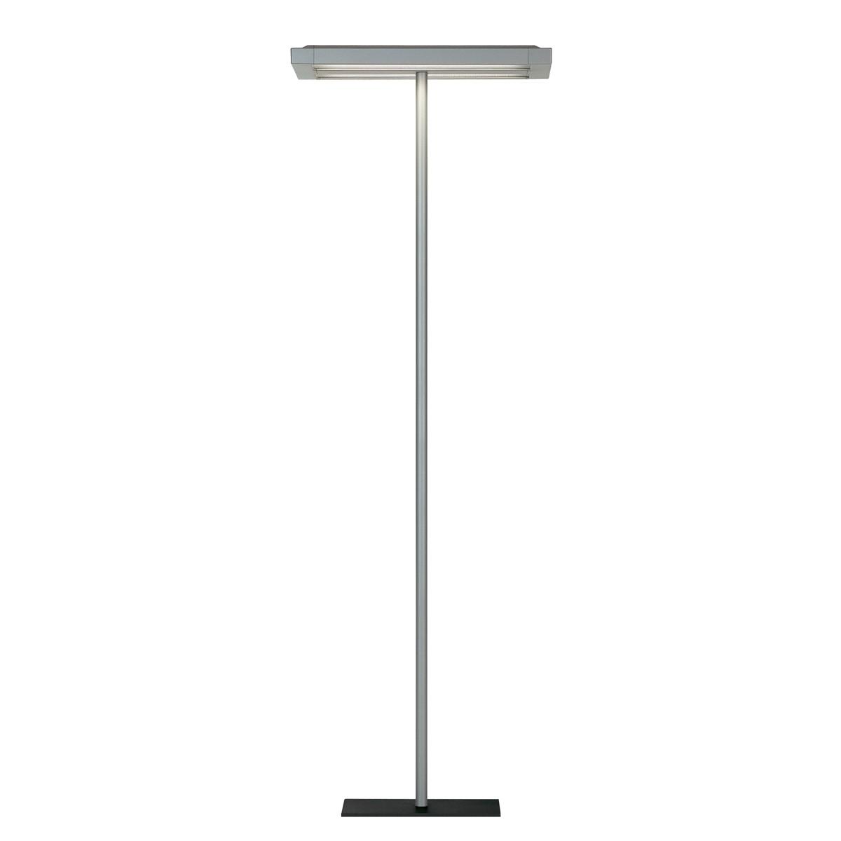 Belux Flat-10 Stehleuchte, Licht symmetrisch, 2-Stufenschaltung, Aluminium