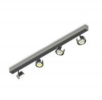 Top Light Puk Choice Turn Deckenleuchte, 105 cm, Chrom, mit Linsen klar