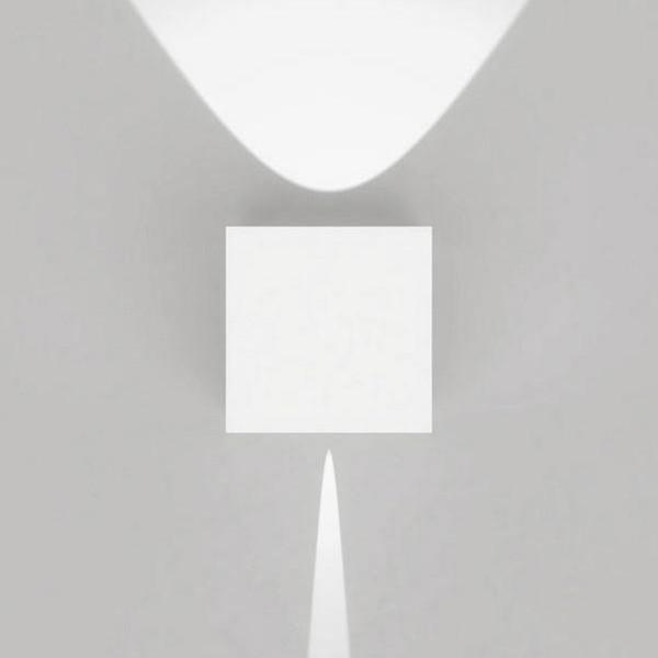 Artemide Outdoor Effetto 14S LED NL Wandleuchte, 1 x 5° und 1 x 50°, hellgrau