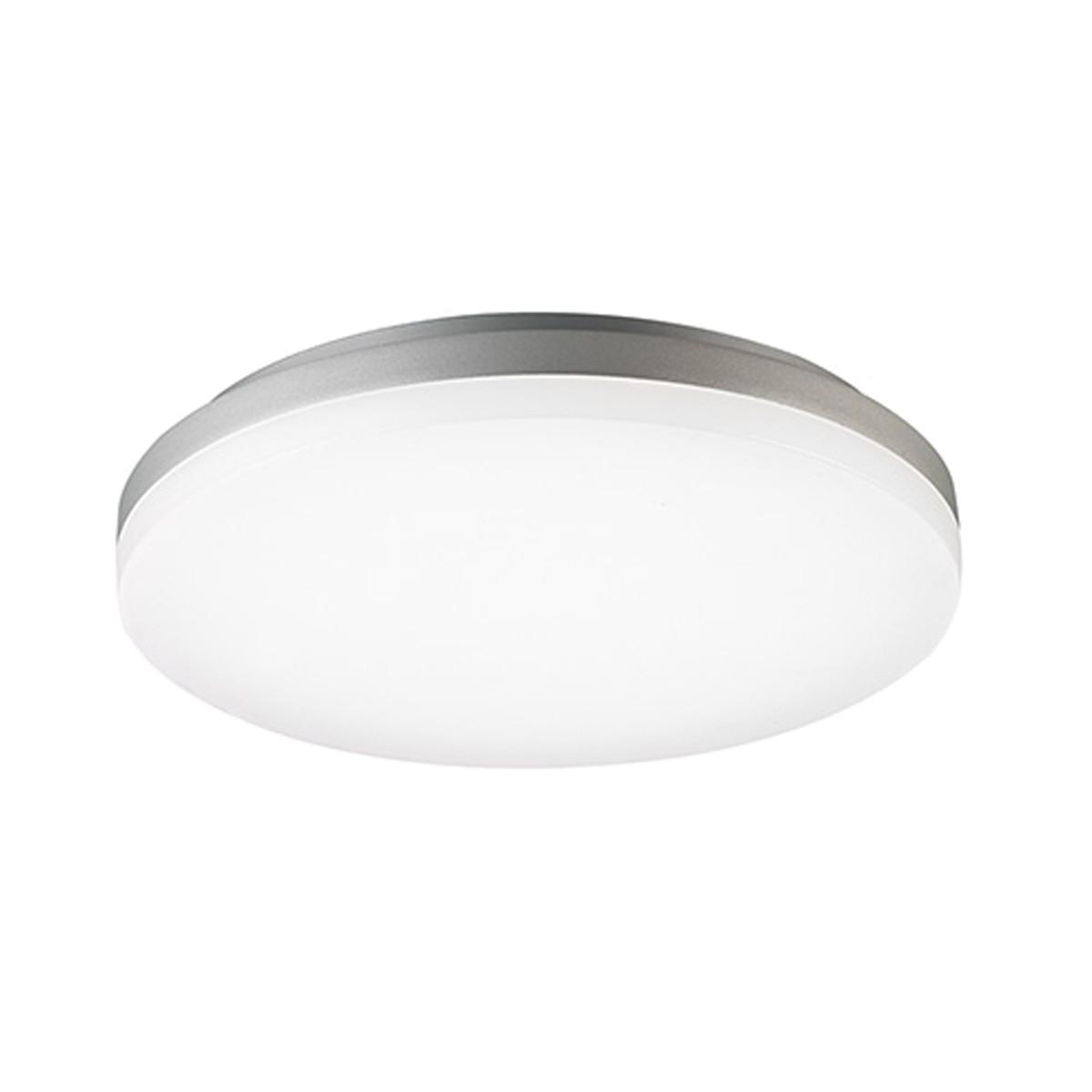 Sigor Circel LED Deckenleuchte, Ø: 40 cm, 3000 K, Silber