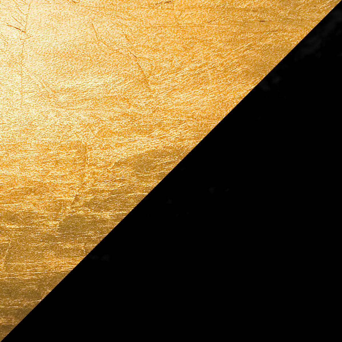 Catellani & Smith Lederam F0 Stehleuchte, Scheibe: Gold, Stange: schwarz