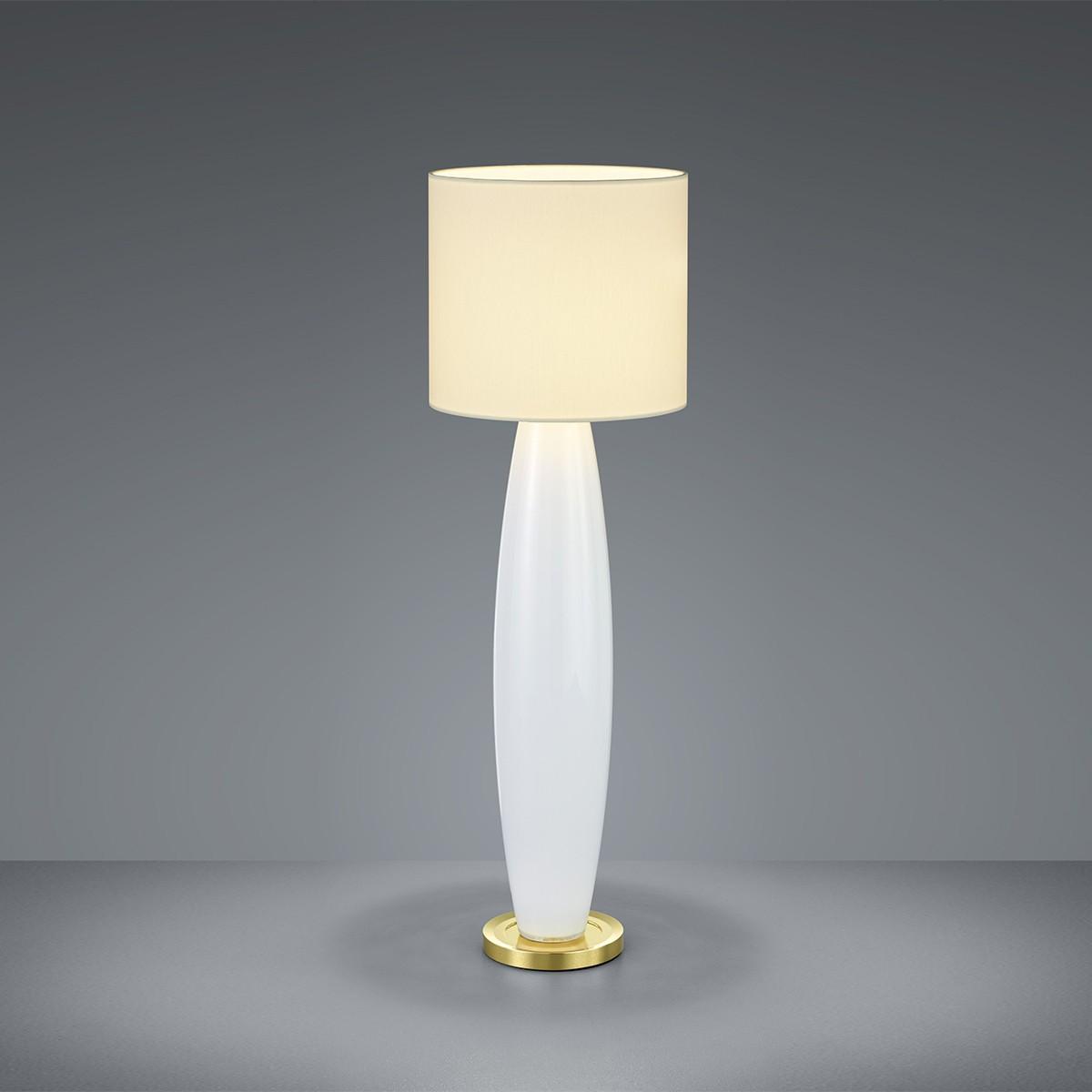 Bankamp Venice Tischleuchte, Höhe: 46 cm, Glas opalweiß / Messing blank