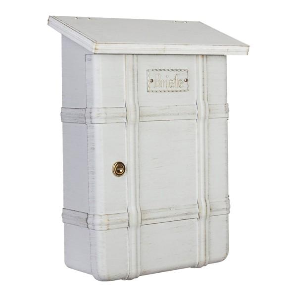 Heibi Ecaro Briefkasten, weiß/Gold