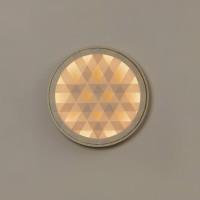 Milan, Loom LED Wandleuchte Ø: 45,4 cm, Holz / nerzfarben