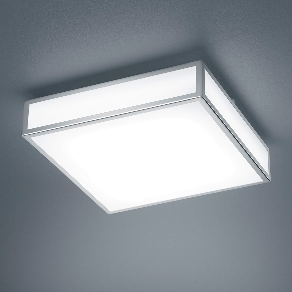 Helestra Zelo LED Deckenleuchte, eckig, 30 x 30 cm, Chrom