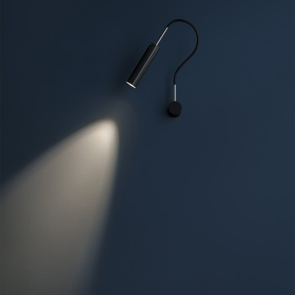 Catellani & Smith Lucenera 202 Wandleuchte, LED, schwarz