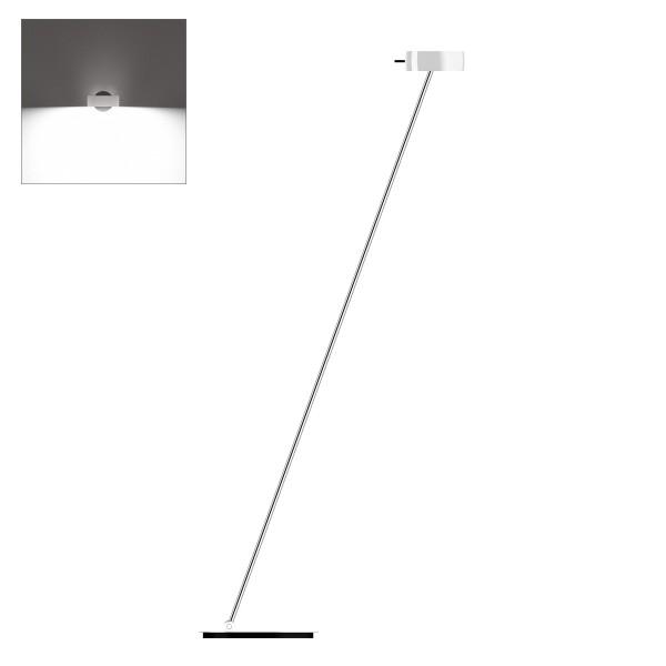 Occhio Sento B LED lettura, 160 cm, Chrom / weiß glänzend