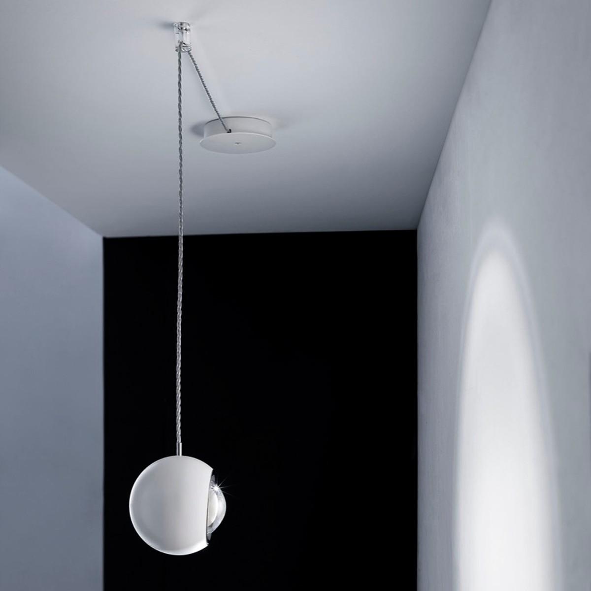 Studio Italia Design Spider Pendelleuchte, 1-flg., 2700° K, Chrom - weiß matt