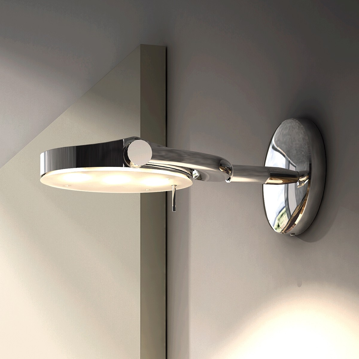 Milan Perceval LED 6337 Wandleuchte, Chrom