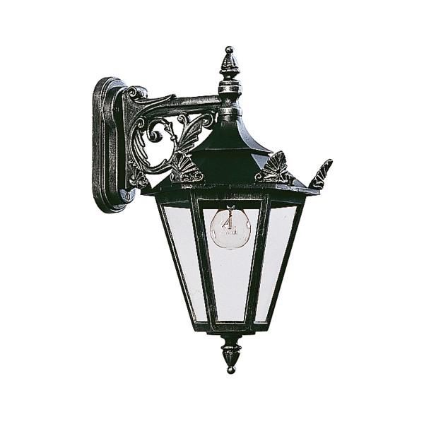 Albert Leuchten 1807 Außenwandleuchte, schwarz-silber