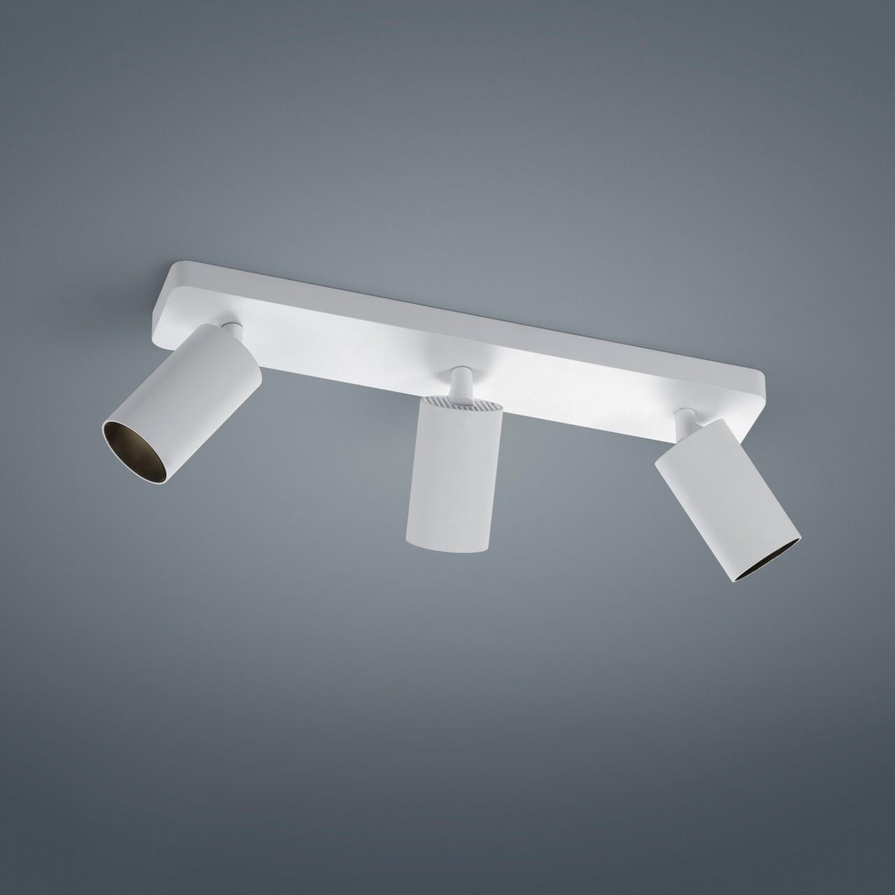 Helestra Riwa LED Deckenleuchte, 3-flg., weiß matt